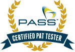 Certified PAT Tester badge
