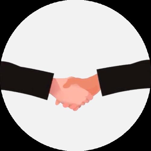 Hand-shake image